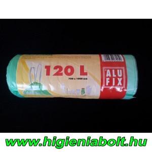 Alufix szemeteszsák zárószalaggal 120 literes, világoszöld színben