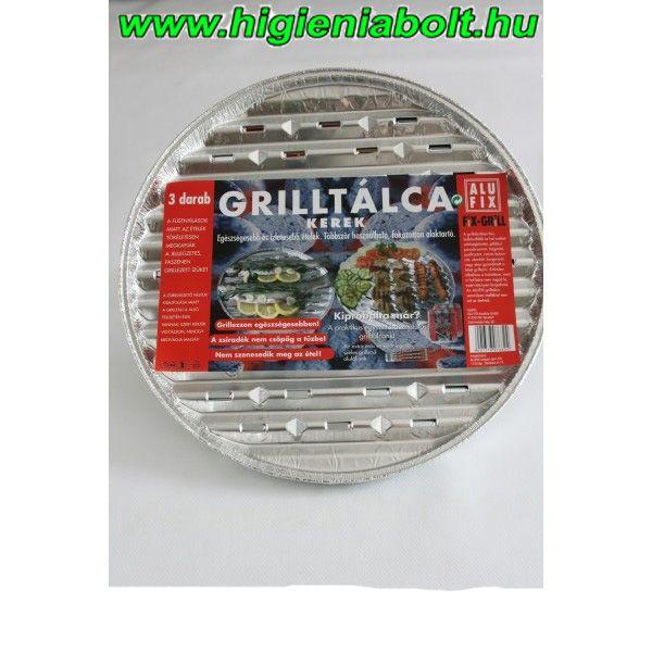Alufix grilltálca kerek 3 db-os