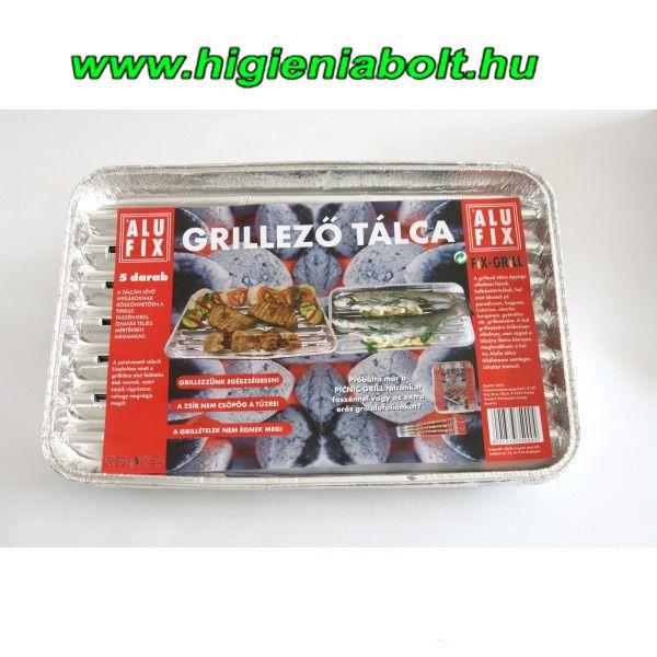 Alufix grilltálca szögletes 5db-os