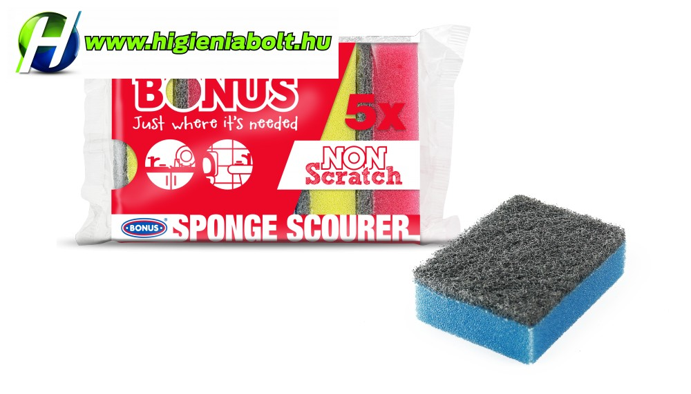 Bonus mosogató szivacs 5db-os