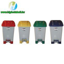 70 literes szelektív hulladékgyűjtő kuka zöld