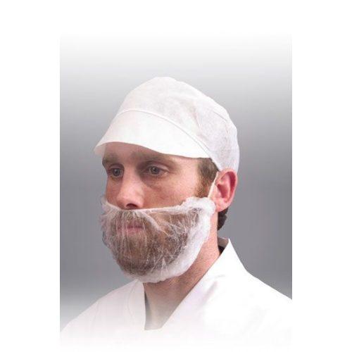 Szakálvédő, Nemszőtt fehér, 100db/csomag