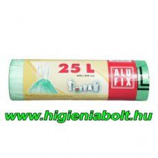Alufix szemeteszsák zárószalaggal 25 literes, világoszöld színben