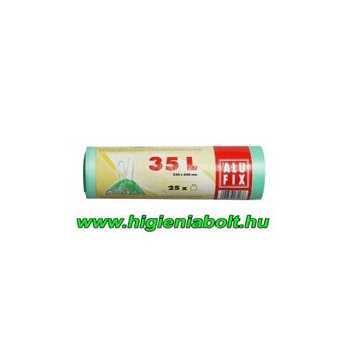 Alufix szemeteszsák zárószalaggal 35 l , világoszöld színben