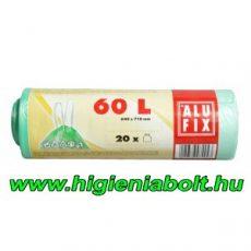 Alufix szemeteszsák zárószalaggal 60 L , világoszöld színben