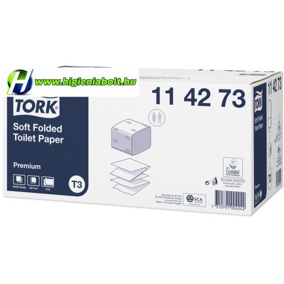 Tork 114273 Premium hajtogatott toalettpapír T3