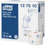 Tork 127510  Premium Extra Soft kompakt toalettpapír tekercs  T6
