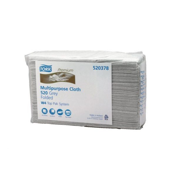Tork 520378  Premium Multipurpose Cloth 520 Top Pack W4