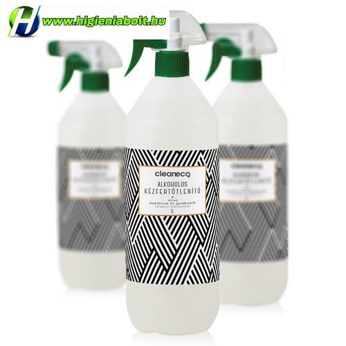 Cleaneco Alkoholos kézfertőtlenítő virucid • 1l • szórófejjel