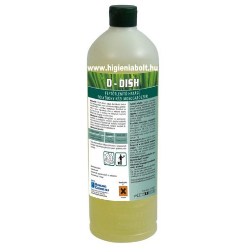 D - Dish Fertőtlenítő hatású folyékony kézi mosogatószer 1kg