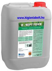 D-Sept Foam Erősen habzó fertőtlenítő habtisztítószer 5 kg
