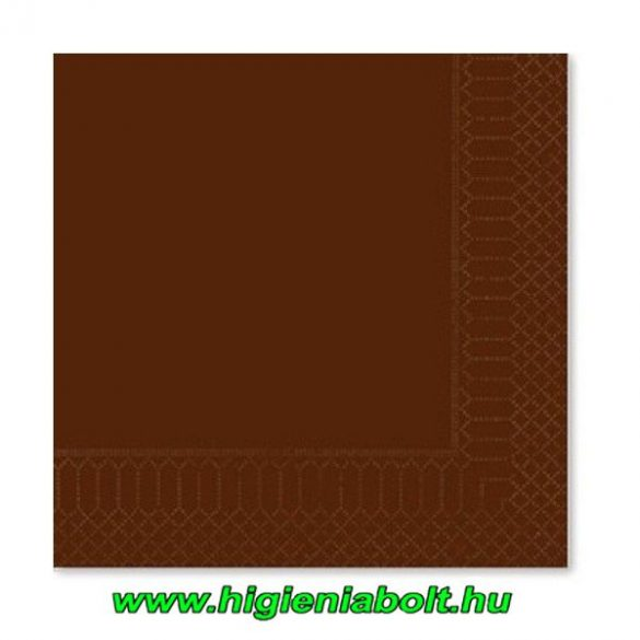 Fato szalvéta csokoládé 33x33cm 2rétegű