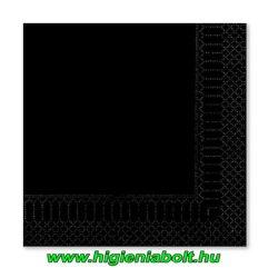 Fato szalvéta fekete 33x33cm 2rétegű