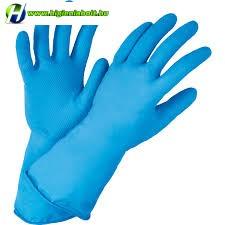 Gumikesztyű kék L