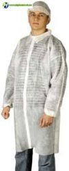 Látogató köpeny fehér tépőzáras 25 g Méret: XL