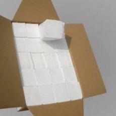 Hajtogatott Kéztörlő Fehér 2 rétegű Bokk 100% cell