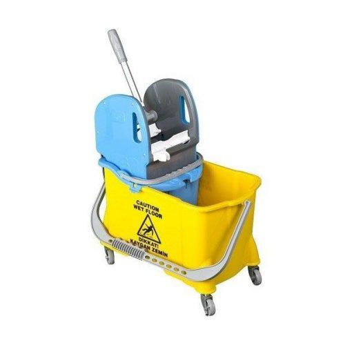 Egyvödrös takarítókocsi 24l-es vödörrel, préssel