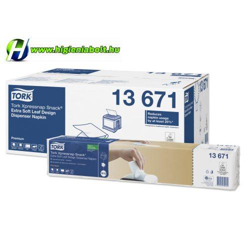 Tork 13671 Xpressnap Snack® Extra Soft levélmintás fehér adagolós szalvéta
