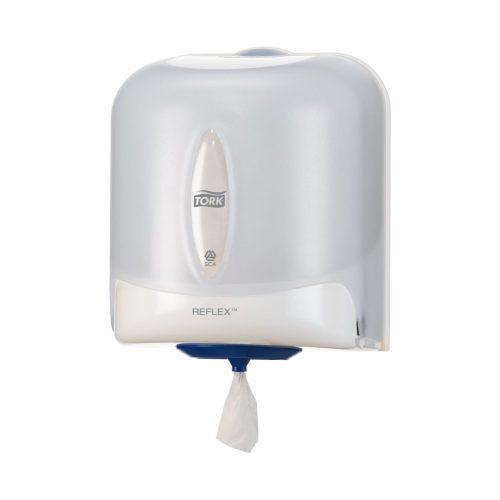 Tork 473140 Reflex midi kéztörlő adagoló, áttetsző-fehér